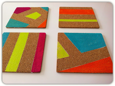 painted cork pin boards