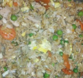 how to make chicken fried rice, oriental recipe, chinese recipes, how to use dehydrated carrots,