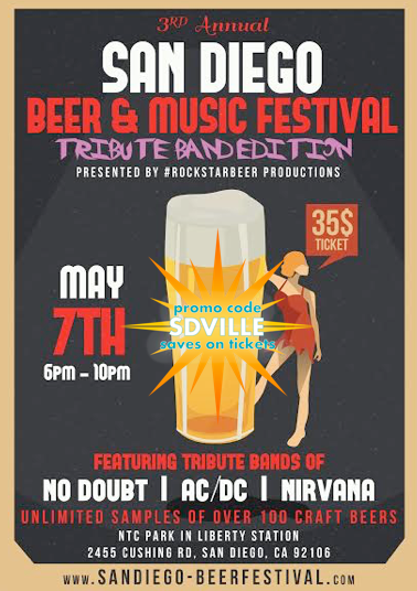 Save on passes & Enter to win VIP tickets to the San Diego Beer & Music Festival - May 7
