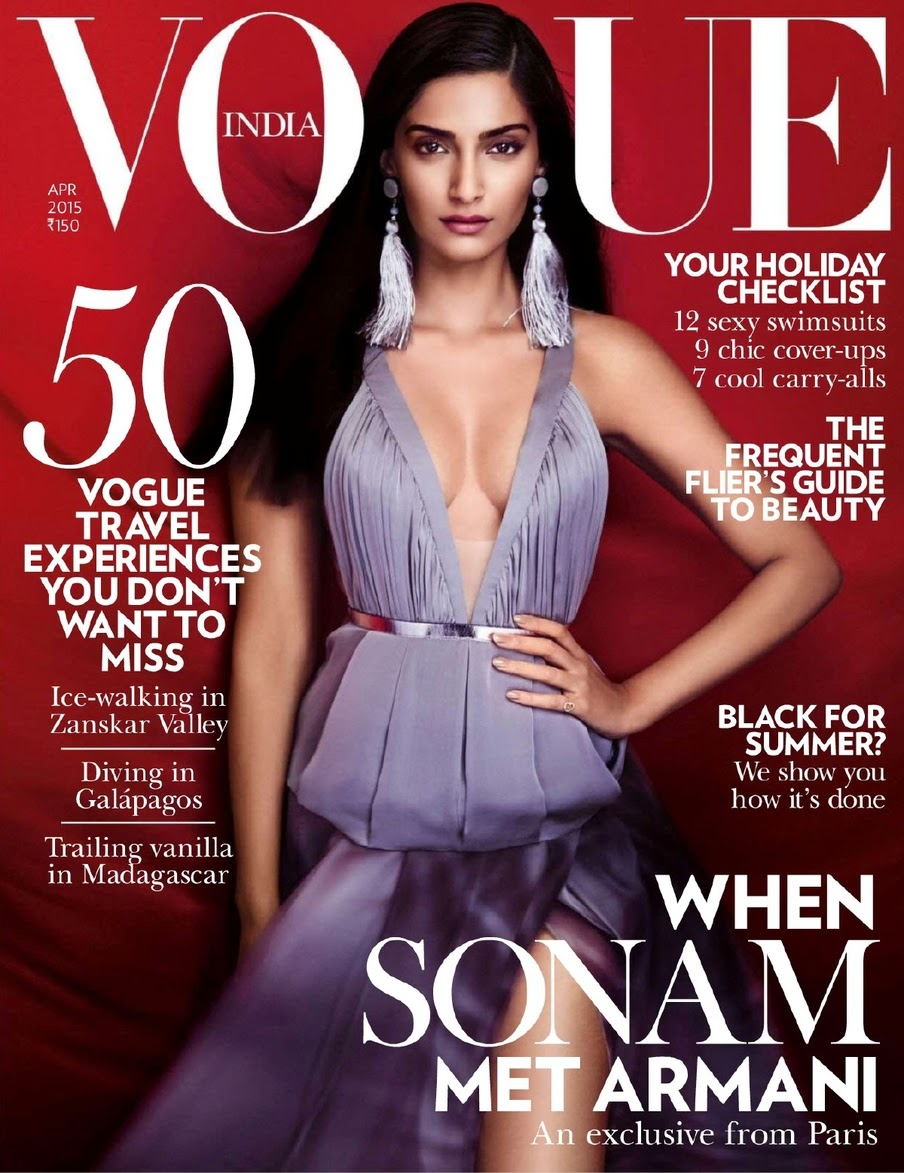 Actress @ Sonam Kapoor - Vogue India, April 2015