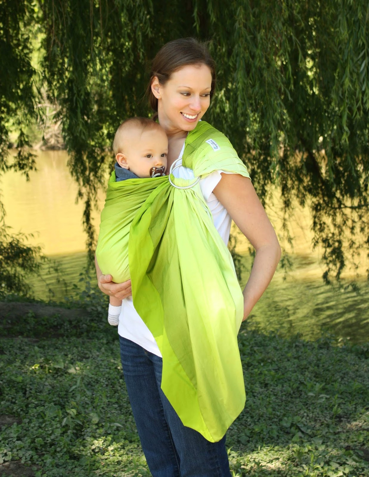 Snuggy Baby Green Ombre Prestige Ring Sling