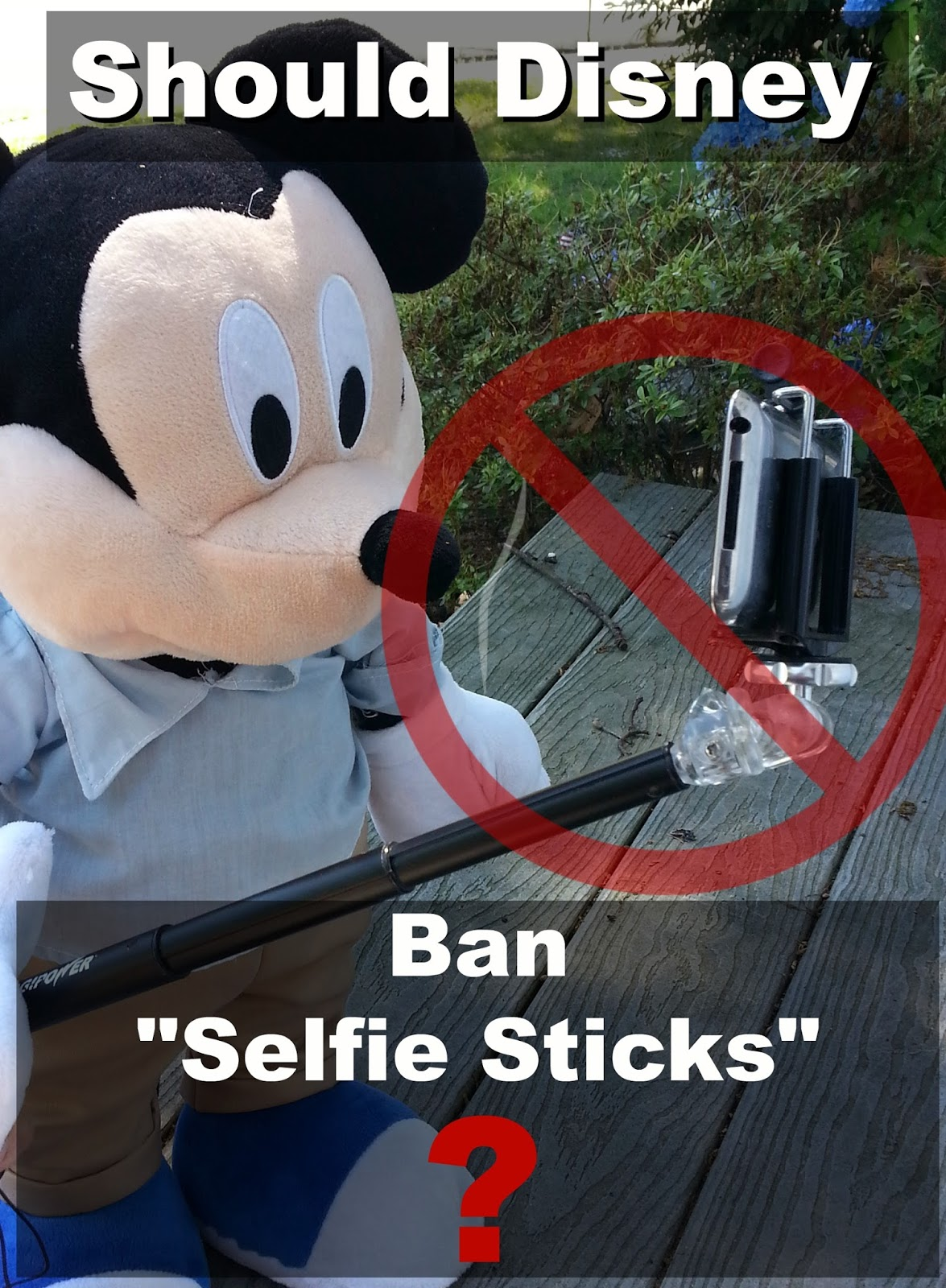should disney ban the selfie stick home is where the mouse is. Black Bedroom Furniture Sets. Home Design Ideas