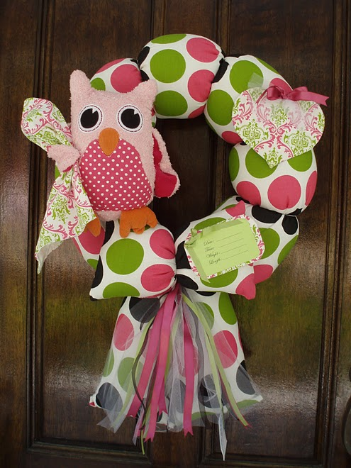 43. Custom Owl Wreath to Match Bedding