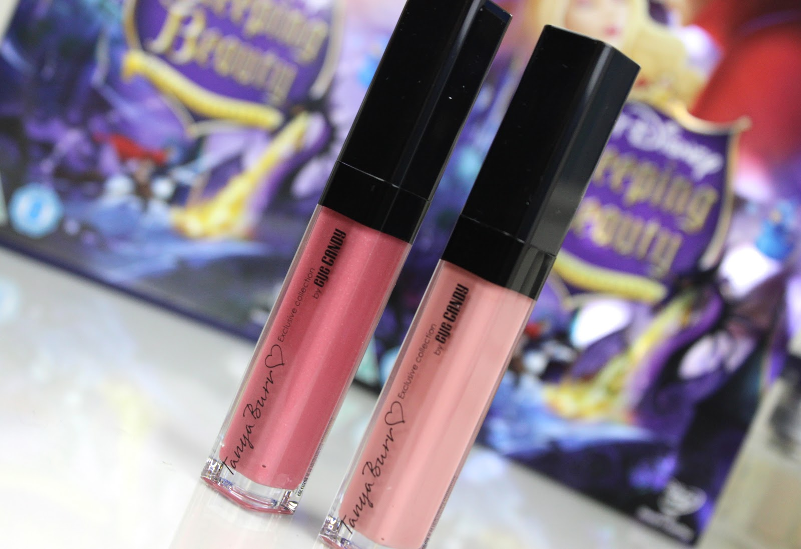 Tanya Burr Lips and Nails Lipgloss in Afternoon Tea and Aurora