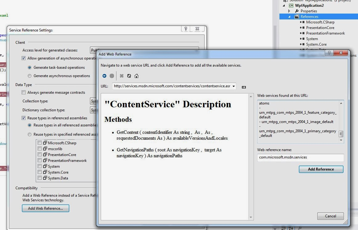 WPF Tutorial: WPF Binding to Web Service Example