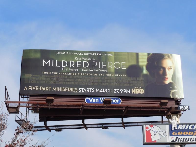 Mildred Pierce TV billboard