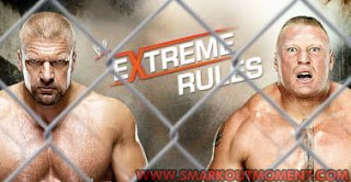 Watch WWE Extreme Rules 2013 PPV Steel Cage YouTube Brock Lesnar vs Triple H Match Online