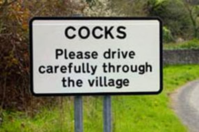 Road sign at Cocks Cornwall