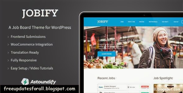 Jobify - WordPress Job Board Theme Free Download