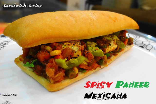 Spicy Paneer Mexican Sandwich