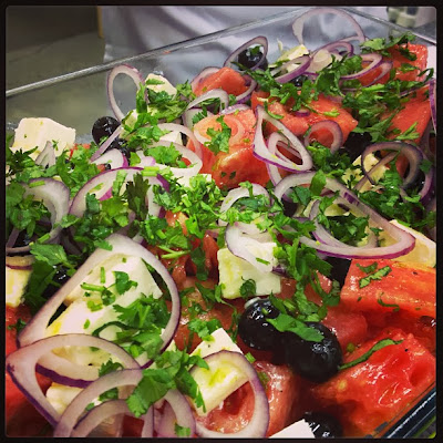 Салат из арбуза, арбузный салат