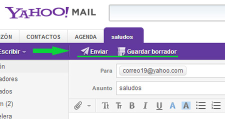 incluir pagina yahoo: