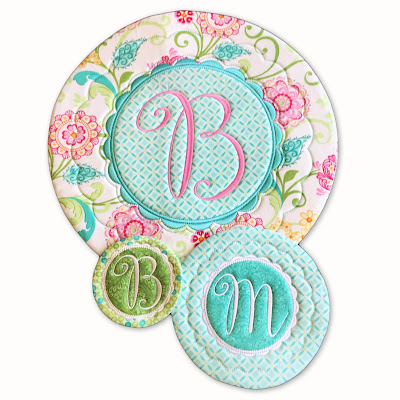 Perfect Placemats, Mug Rugs, Coasters 'In the Hoop' Embroidery Machine Design