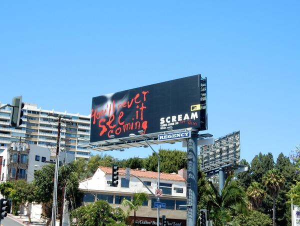 Scream MTV season 1 billboard