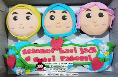 Cupcake 2d Fondant Tema Cewek