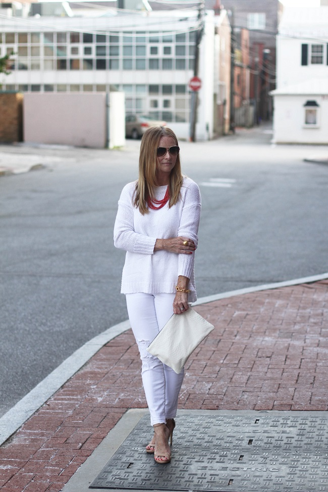 jcrew white sweater