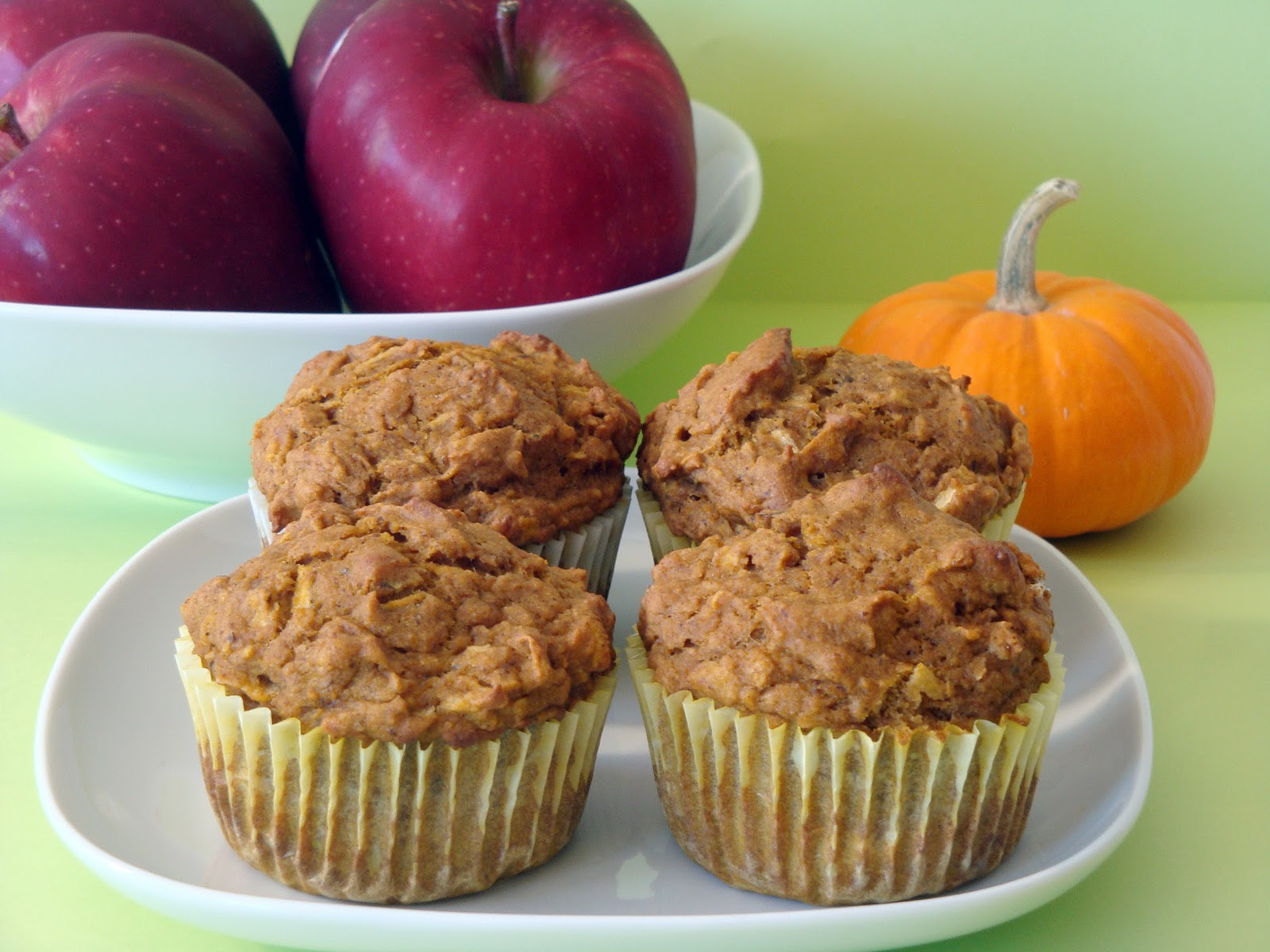 Pumpkin Apple Muffins - Alida's Kitchen