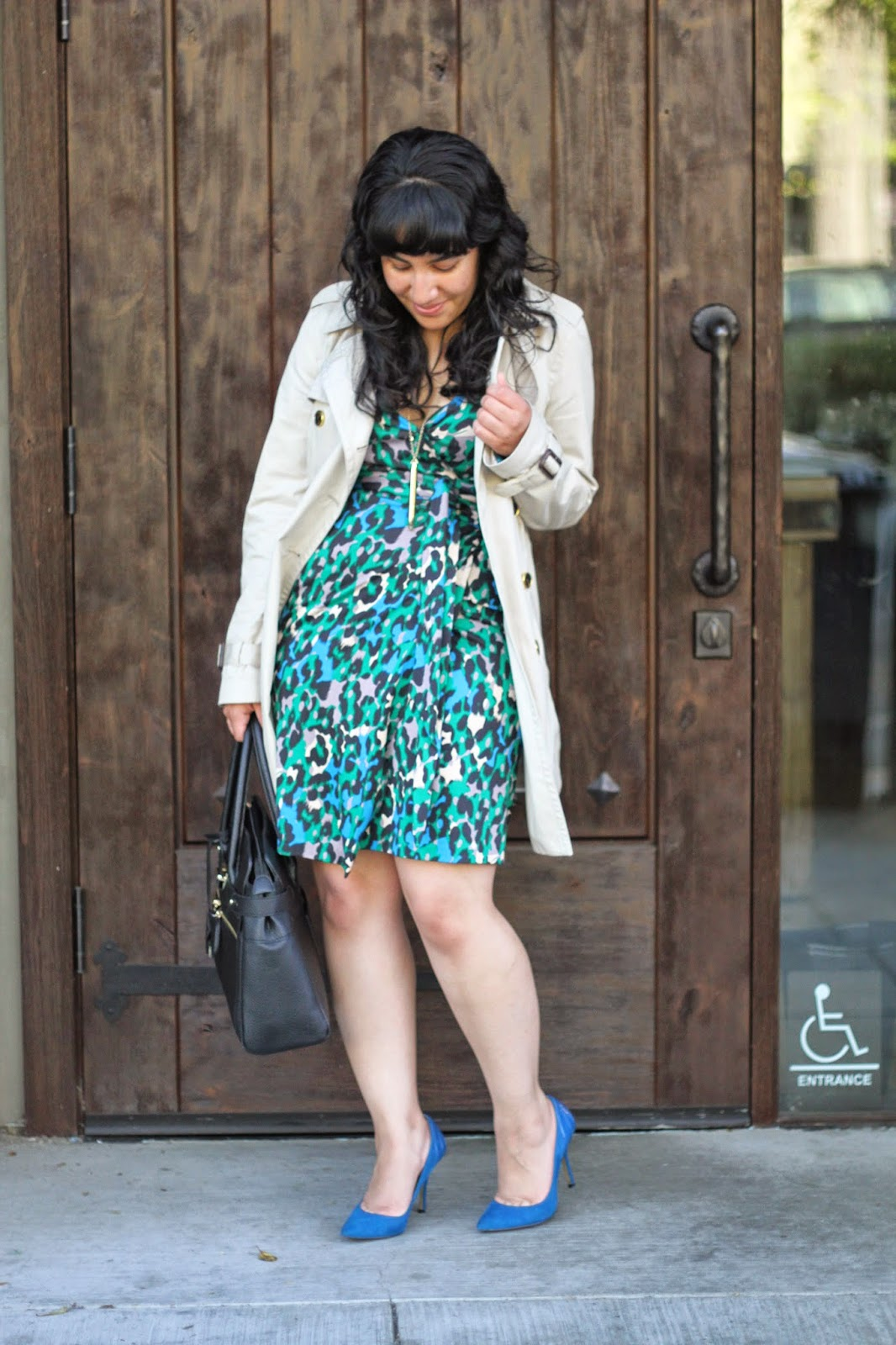 Trench Coat and Wrap Dress