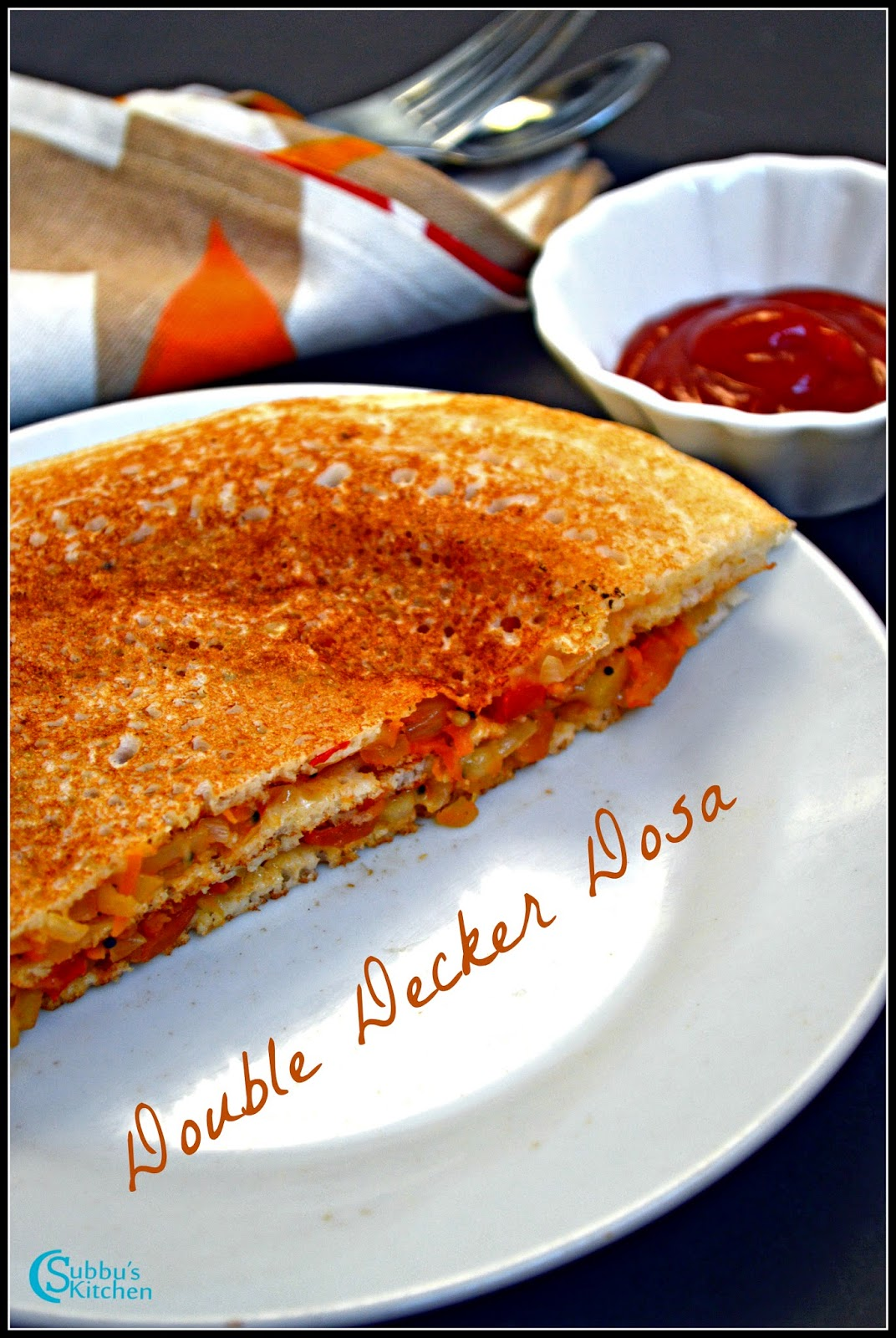 Double Decker Vegetable Dosa Recipe
