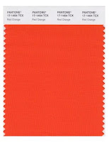 Red Orange paint sample fabric