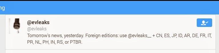 evleaks philippine account on twitter