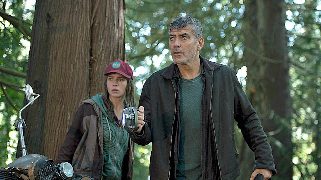 "Britt Robertson and George Clooney blast off in ""Tomorrowland"""