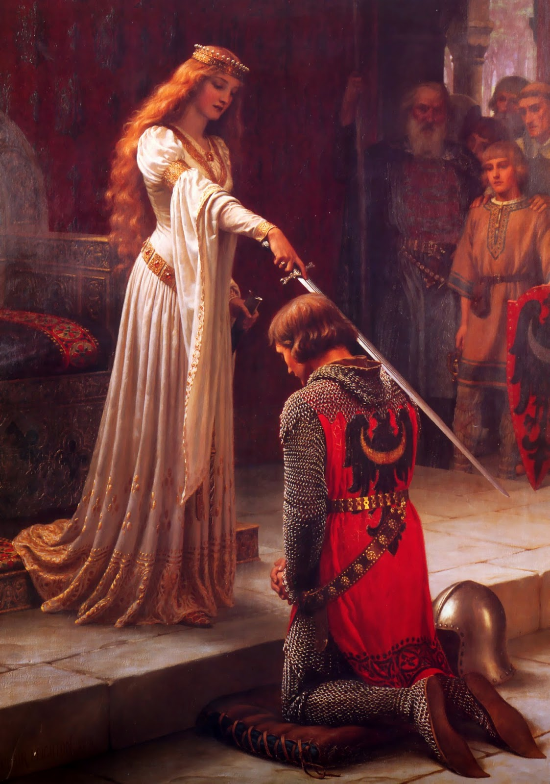 Схема для вышивки посвящение в рыцари