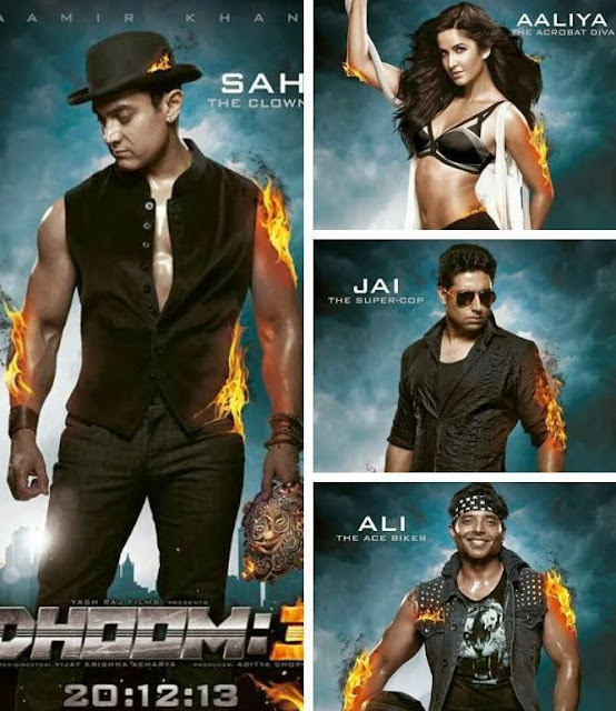 Aamir Khan, Katrina, Abhishek and Uday's role revealed in Dhoom 3