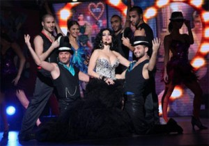 Haifa Wehbe performs in Mister Lebanon 2012