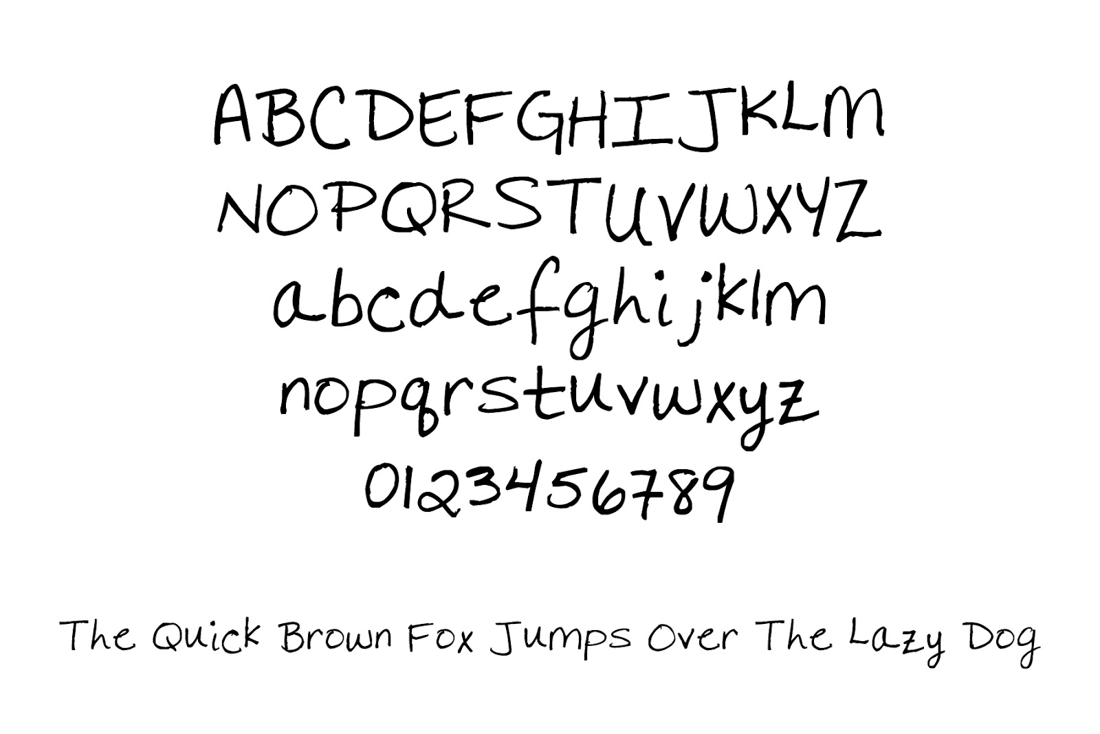 Freebie Friday My Handwritten Font