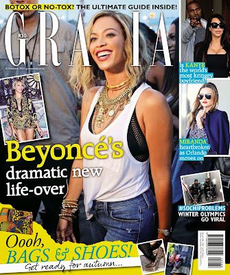 Beyonce Photos from Grazia South Africa Magazine Cover February 2014 HQ Scans
