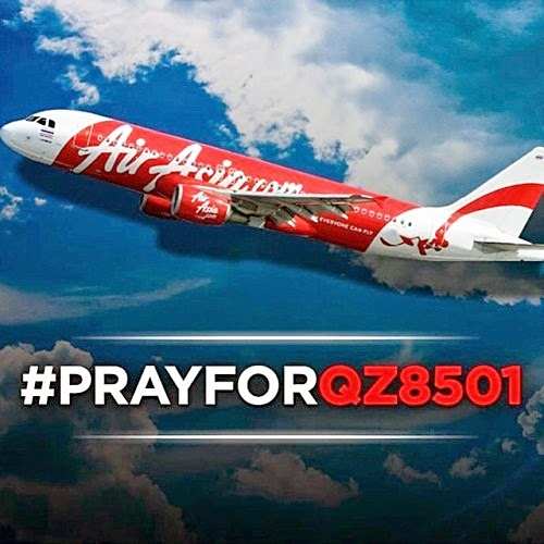 #PrayForQZ8501, #AirAsia, Pray For QZ8501, AirAsia Flight From Surabaya to Singapore Missing