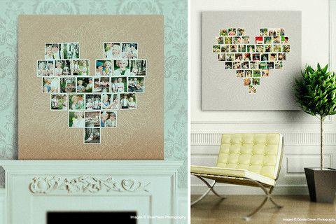 Colash de Fotos en Forma de Corazon Fotos en Forma de Corazón