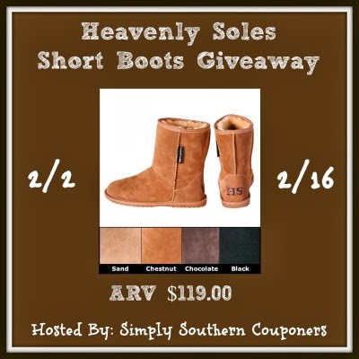 Enter the Heavenly Soles Sheepskin Short Boots Giveaway. Ends 2/16.