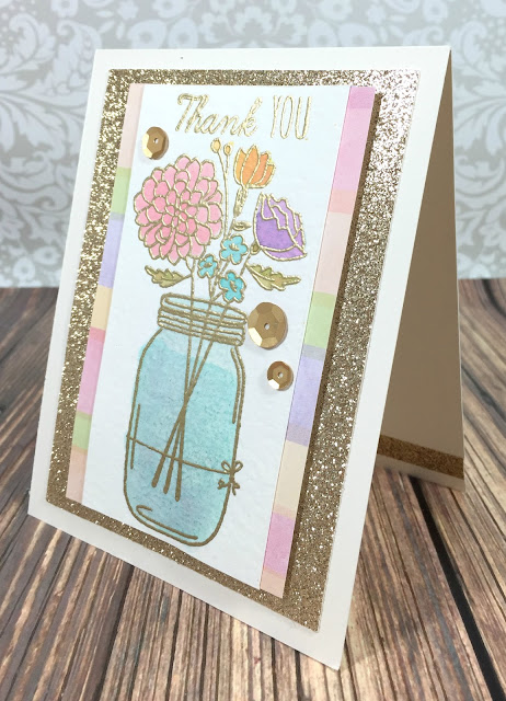 Flower Jar thank you card