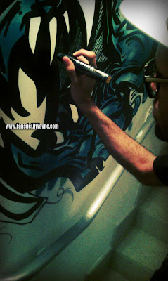 eddy remember y fat joe haciendo graffitis en la mansion de lil wayne de miami