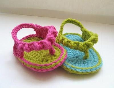 Baby flipflops häkeln - schoenstricken.de