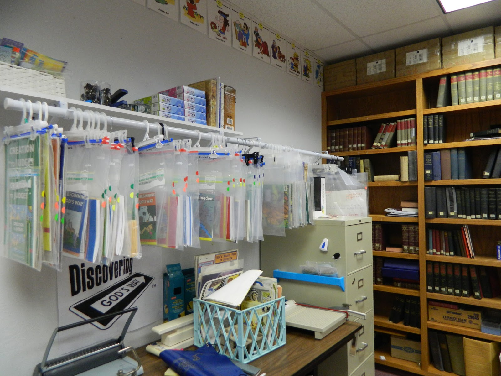 Hands On Bible Teacher: Working on the Resource Room at the Church ...