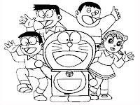 Doraemon Nobita Giant Suneo Shizuka Coloring Pages
