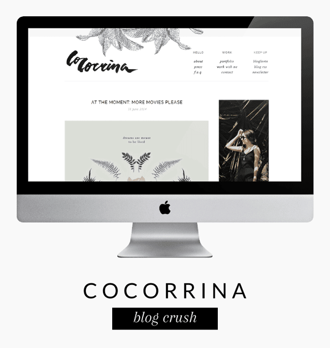 Blog Crush: Cocorrina | yuniquelysweet.blogspot.com
