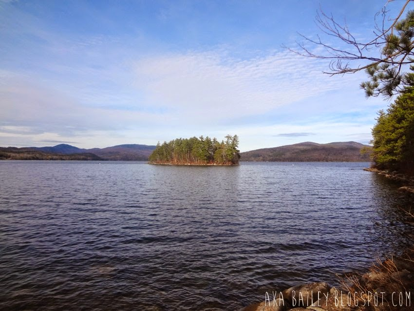 Island in Newfound Lake