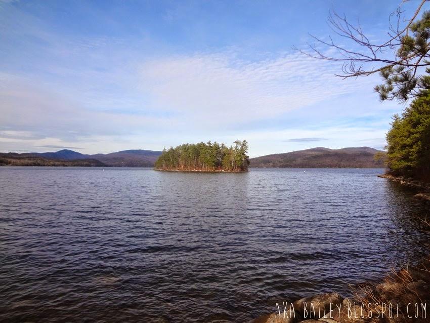 Island in Newfound Lake