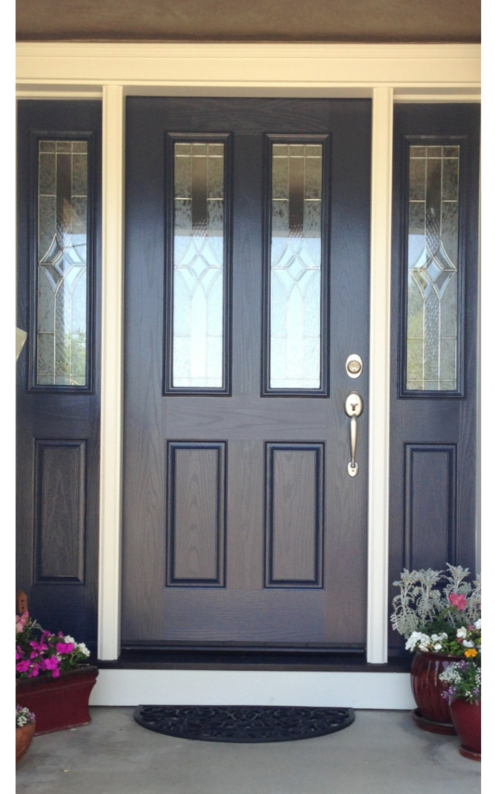 Marie antoinette interiors for Navy blue front door