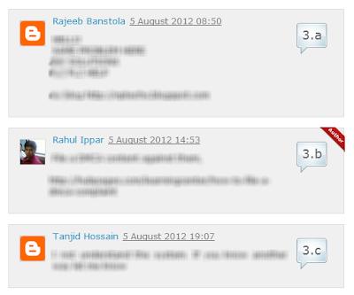 Thêm số thứ tự cho comment(theo luồng) của Blogger