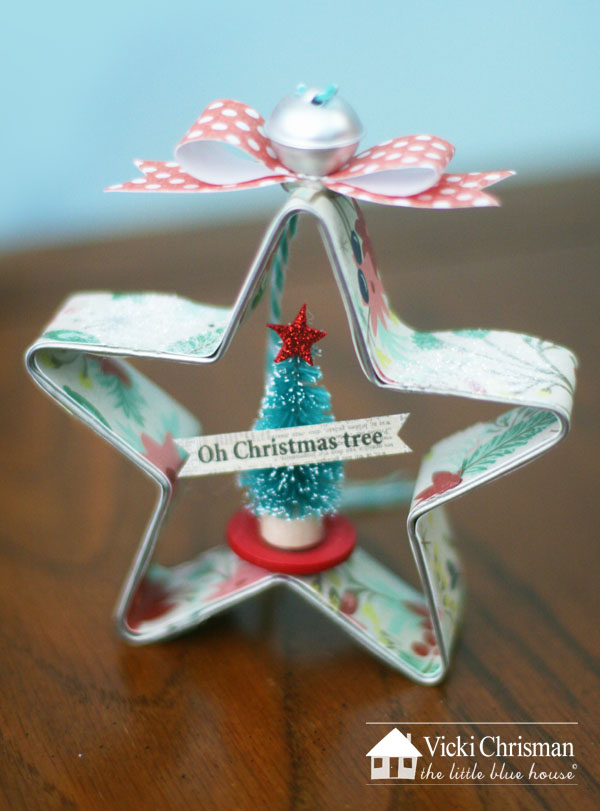 the little blue house 12 days of ornament day 2 2 inch bottle brush tree