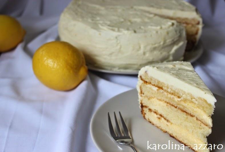 Citrónová torta s Lemon Curd a bielou čokoládou
