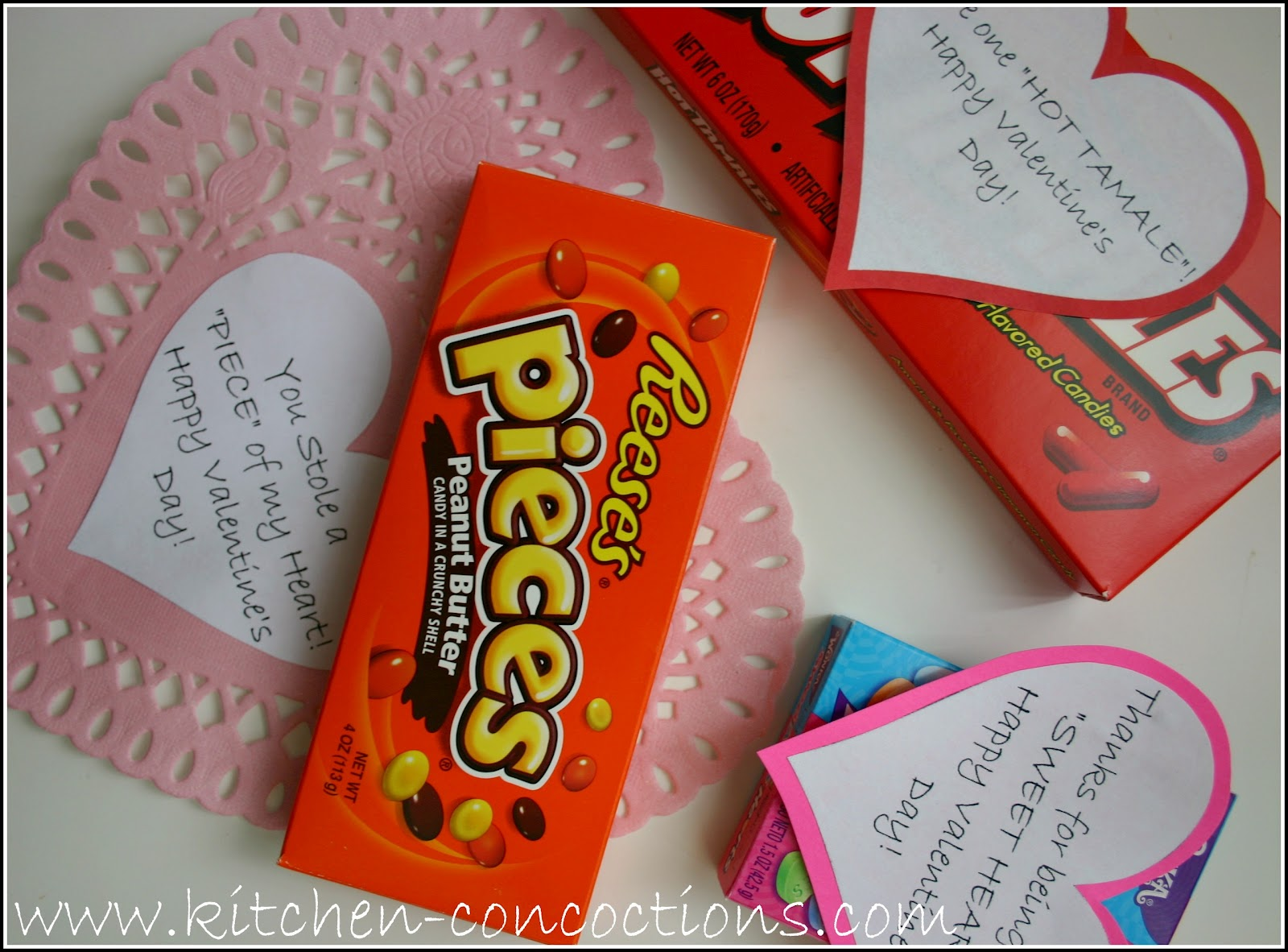How To Valentines Day Candy Cards Kitchen Concoctions – Valentines Cards with Candy