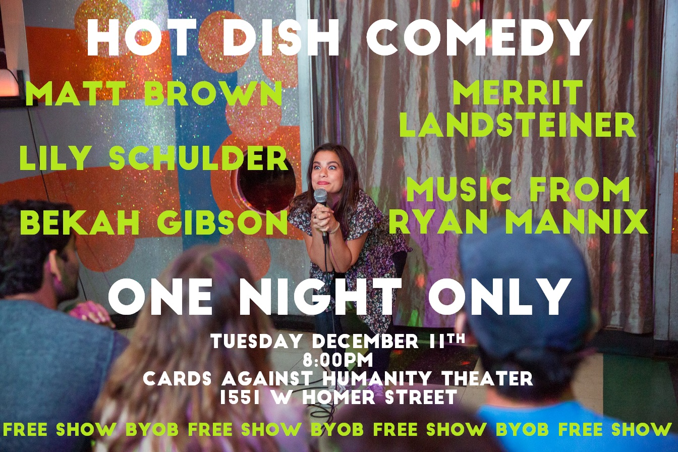 Hot Dish Comedy Dec 11th