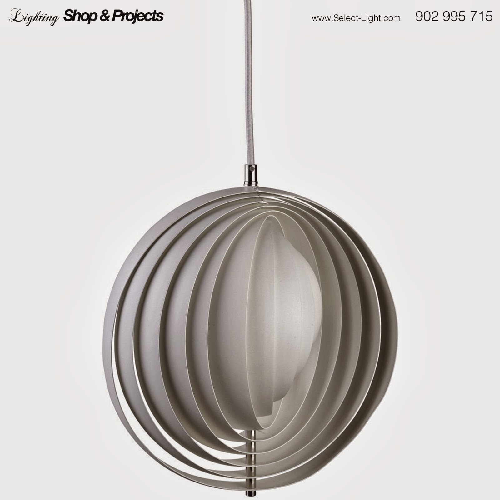 Moon hanging light By Verner Panton