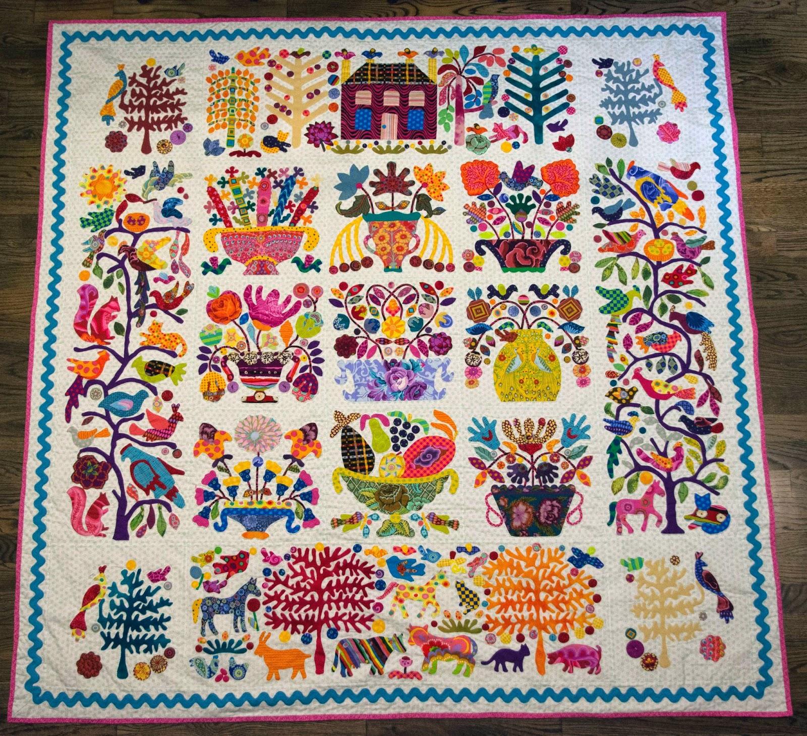third floor quilts: blogger's quilt festival - hand applique : applique for quilts - Adamdwight.com